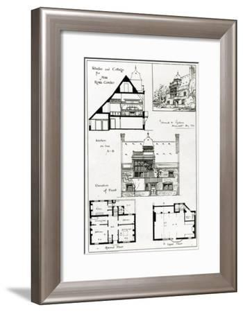 Studio and Cottage For Miss Rosa Corder, from 'The British Architect', 3rd October 1879--Framed Giclee Print