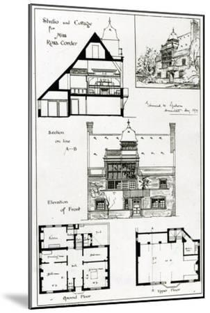 Studio and Cottage For Miss Rosa Corder, from 'The British Architect', 3rd October 1879--Mounted Giclee Print