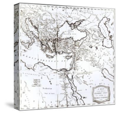 Map of the Eastern Part of the Roman Empire, c.1808--Stretched Canvas Print