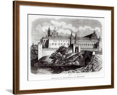North Facade of the Castle of Marienburg--Framed Giclee Print