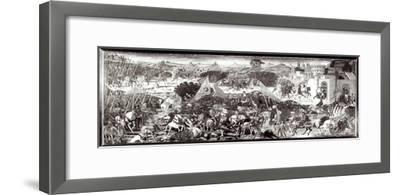 Romans and Gauls Fighting or the Battle in Front of the Gates of Rome-Paolo Uccello-Framed Giclee Print