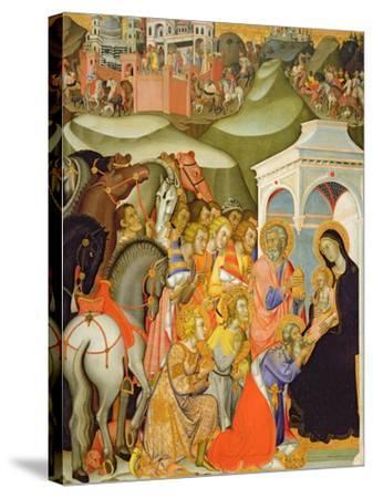 The Adoration of the Magi, c.1380-Also Manfredi De Battilori Bartolo Di Fredi-Stretched Canvas Print