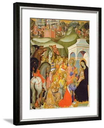 The Adoration of the Magi, c.1380-Also Manfredi De Battilori Bartolo Di Fredi-Framed Giclee Print