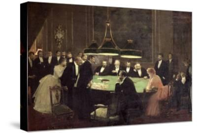 The Gaming Room at the Casino, 1889-Jean B?raud-Stretched Canvas Print
