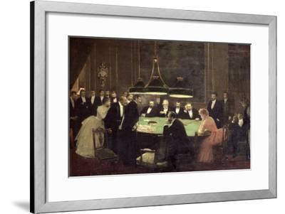 The Gaming Room at the Casino, 1889-Jean B?raud-Framed Giclee Print