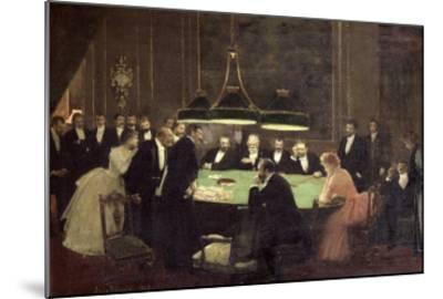 The Gaming Room at the Casino, 1889-Jean B?raud-Mounted Giclee Print