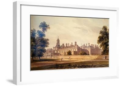 The South-West View of Kensington Palace, 1826-John Buckler-Framed Giclee Print