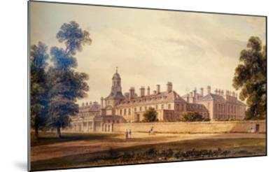 The South-West View of Kensington Palace, 1826-John Buckler-Mounted Giclee Print
