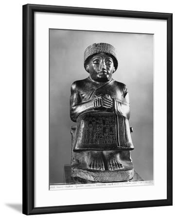 Gudea, Prince of Lagash, Dedicated to Ningizzada, Neo-Sumerian, Telloh, Ancient Girsu, c.2130 BC- Mesopotamian-Framed Giclee Print