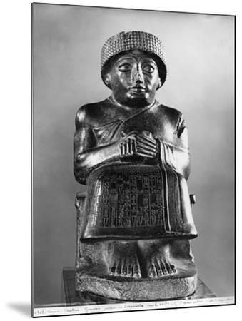 Gudea, Prince of Lagash, Dedicated to Ningizzada, Neo-Sumerian, Telloh, Ancient Girsu, c.2130 BC- Mesopotamian-Mounted Giclee Print