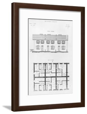 Housing Development in Mulhouse, Late 19th Century--Framed Giclee Print