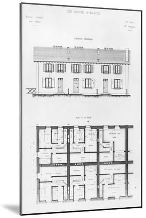 Housing Development in Mulhouse, Late 19th Century--Mounted Giclee Print