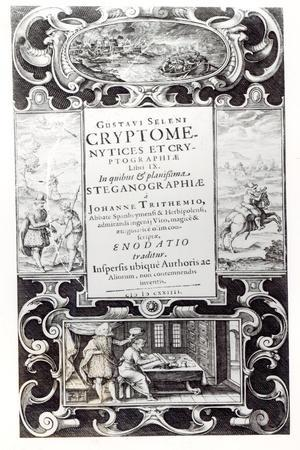 Title Page to Book 9 of Cryptomenysis and Cryptography by Gustavus Selenus--Stretched Canvas Print