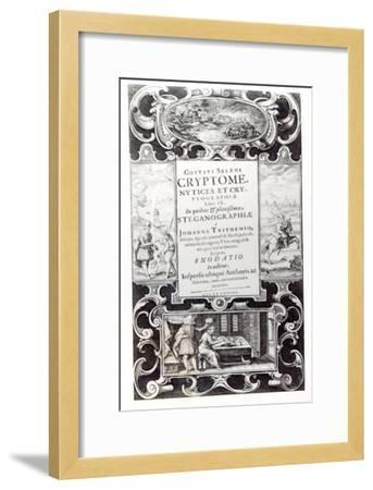 Title Page to Book 9 of Cryptomenysis and Cryptography by Gustavus Selenus--Framed Giclee Print
