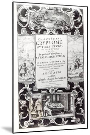 Title Page to Book 9 of Cryptomenysis and Cryptography by Gustavus Selenus--Mounted Giclee Print