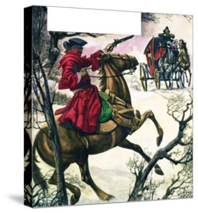 The Wonderful Story of Britain: Highwaymen and Robbers-Peter Jackson-Stretched Canvas Print