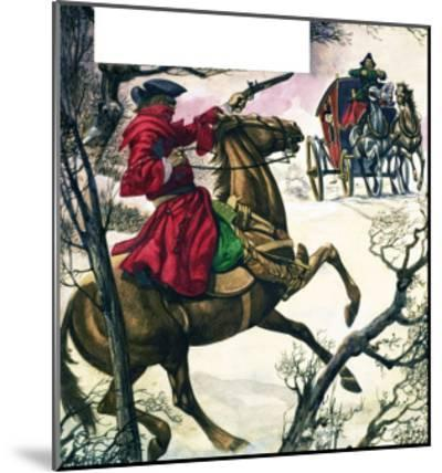 The Wonderful Story of Britain: Highwaymen and Robbers-Peter Jackson-Mounted Giclee Print