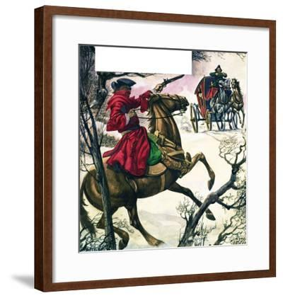 The Wonderful Story of Britain: Highwaymen and Robbers-Peter Jackson-Framed Giclee Print