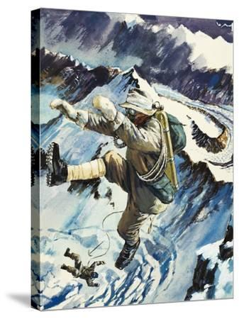 Mountaineers Falling to Their Death--Stretched Canvas Print