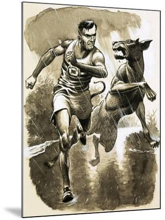 Jack Holden Won a Marathon Despite Being Bitten by a Dog During the Race--Mounted Giclee Print