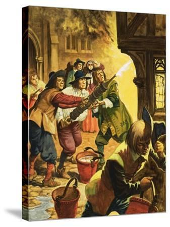 The Great Fire of London of 1666-Peter Jackson-Stretched Canvas Print