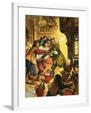 The Great Fire of London of 1666-Peter Jackson-Framed Giclee Print