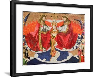 The Coronation of the Virgin, Completed 1453-Enguerrand Quarton-Framed Giclee Print