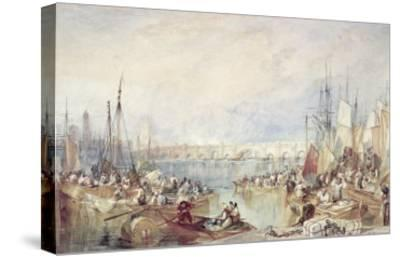 The Port of London-J^ M^ W^ Turner-Stretched Canvas Print