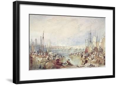 The Port of London-J^ M^ W^ Turner-Framed Giclee Print