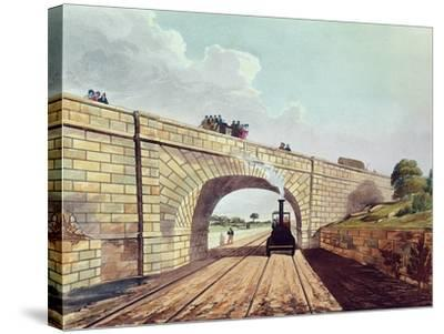 Rainhill Bridge, Plate 12 from Liverpool and Manchester Railway, Engraved by Henry Pyall-Thomas Talbot Bury-Stretched Canvas Print