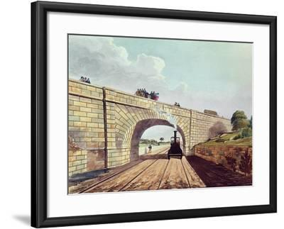 Rainhill Bridge, Plate 12 from Liverpool and Manchester Railway, Engraved by Henry Pyall-Thomas Talbot Bury-Framed Giclee Print