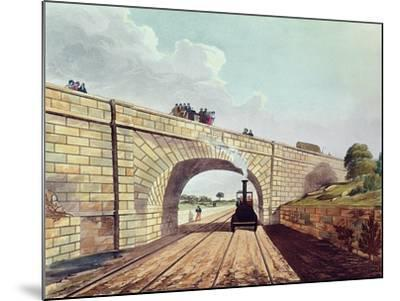 Rainhill Bridge, Plate 12 from Liverpool and Manchester Railway, Engraved by Henry Pyall-Thomas Talbot Bury-Mounted Giclee Print