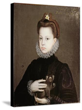 Infanta Isabella Clara Eugenia, Daughter of Philip II of Spain-Alonso Sanchez Coello-Stretched Canvas Print