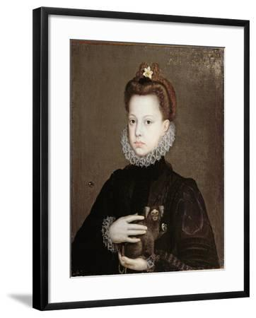 Infanta Isabella Clara Eugenia, Daughter of Philip II of Spain-Alonso Sanchez Coello-Framed Premium Giclee Print