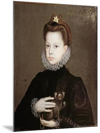 Infanta Isabella Clara Eugenia, Daughter of Philip II of Spain-Alonso Sanchez Coello-Mounted Premium Giclee Print