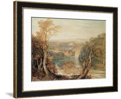 The River Wharfe with a Distant View of Barden Tower-J^ M^ W^ Turner-Framed Giclee Print