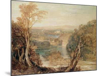 The River Wharfe with a Distant View of Barden Tower-J^ M^ W^ Turner-Mounted Giclee Print