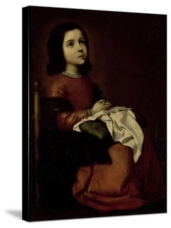 The Childhood of the Virgin, c.1660-Francisco de Zurbar?n-Stretched Canvas Print