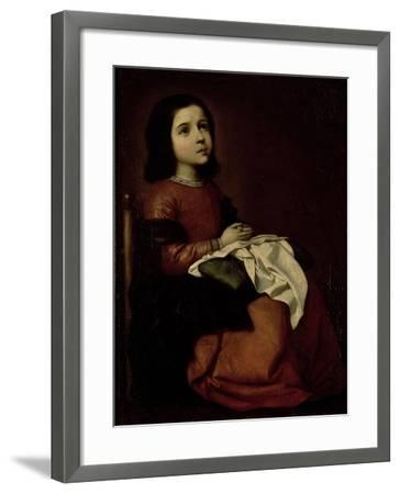 The Childhood of the Virgin, c.1660-Francisco de Zurbar?n-Framed Giclee Print