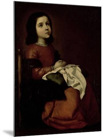The Childhood of the Virgin, c.1660-Francisco de Zurbar?n-Mounted Giclee Print