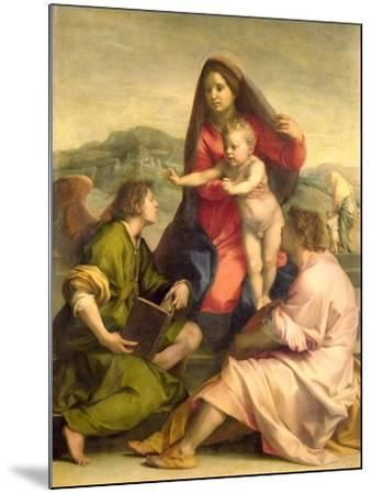 The Virgin and Child with a Saint and an Angel, c.1522-23-Andrea del Sarto-Mounted Giclee Print