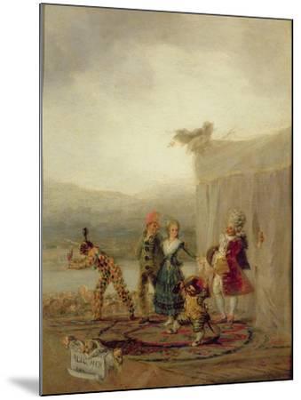 Strolling Players, 1793-Francisco de Goya-Mounted Giclee Print