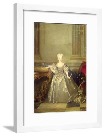 Infanta Maria Anna Victoria de Bourbon, 1724-Nicolas de Largilliere-Framed Giclee Print
