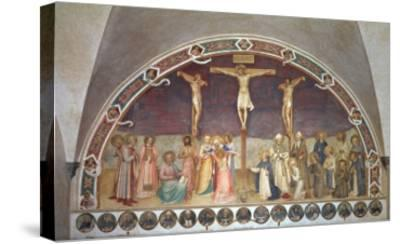 The Crucifixion, with SS. Cosmas, Damian, Francis and Bernard, 1442-Fra Angelico-Stretched Canvas Print