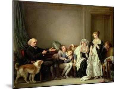 Visit to the Priest-Jean-Baptiste Greuze-Mounted Giclee Print