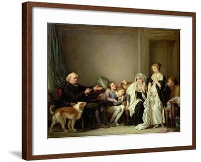 Visit to the Priest-Jean-Baptiste Greuze-Framed Giclee Print
