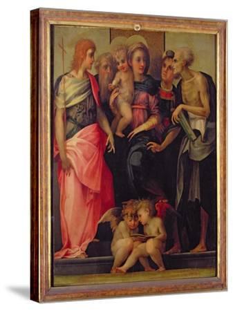Madonna and Child with Saints, c.1518-Rosso Fiorentino (Battista di Jacopo)-Stretched Canvas Print