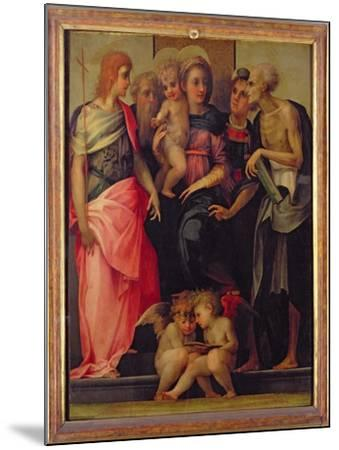 Madonna and Child with Saints, c.1518-Rosso Fiorentino (Battista di Jacopo)-Mounted Giclee Print