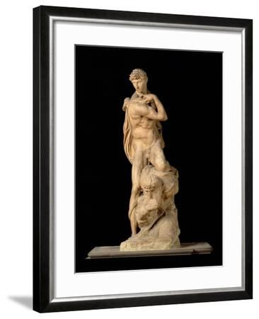 The Genius of Victory, 1532-34-Michelangelo Buonarroti-Framed Giclee Print