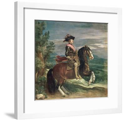 Equestrian Portrait of Philip IV-Diego Velazquez-Framed Giclee Print